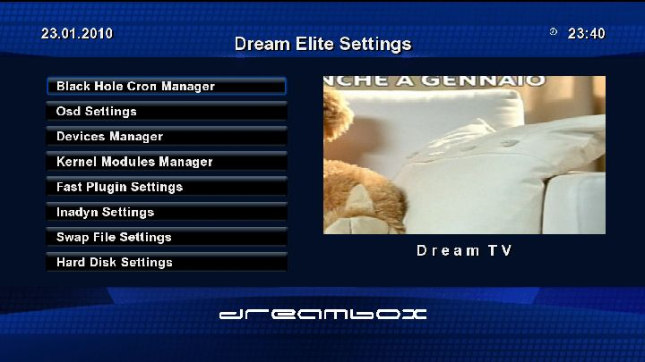 Dream Elite BlackHole Multiboot DM8000