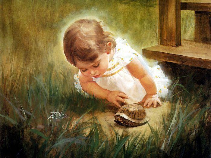 صور براءة الاطفال في لوحات رسم جودة hd