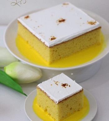 طريقة عمل كيكة الزعفران بالصور , اسهل طريقة لكيكة الزعفران