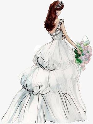صور عروس مرسومة للتصميم , صور عروس مرسومة hd , رمزيات عروسة رسمة