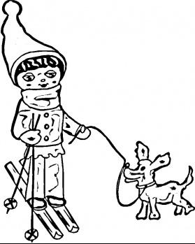 رسومات فصل الشتاء للأطفال جاهزة للتلوين Winter Coloring