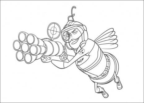 رسمة النحل للتلوين , لوحات النحل مرسومة جاهزة للتلوين Bee Coloring