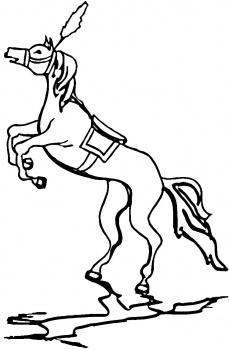 رسومات خيول للأطفال جاهزة للتلوين Horses Coloring