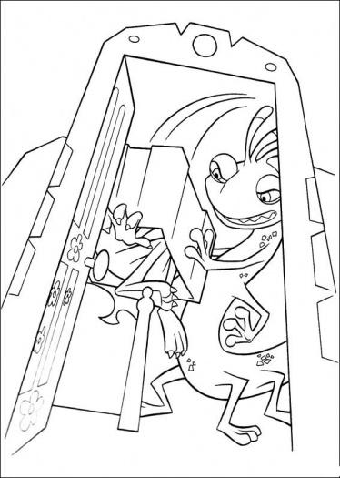 رسومات وحوش للأطفال جاهزة للتلوين Monsters Coloring