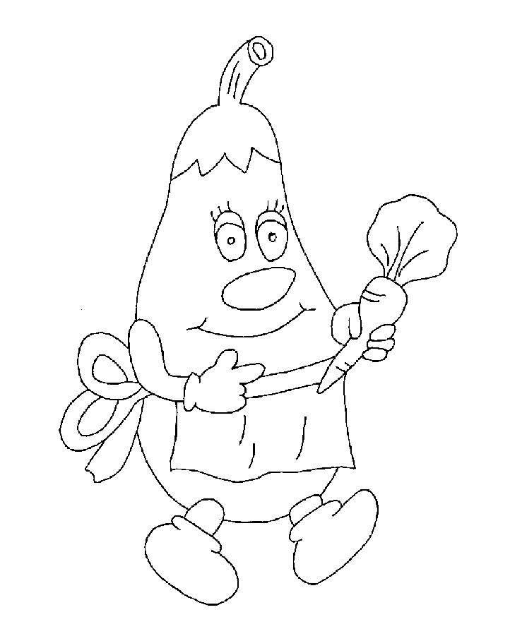 رسومات فواكه و خضروات للأطفال جاهزة للتلوين والطباعة hd