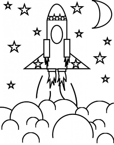 رسومات صاروخ الفضاء , تلوين طائرة , رسومات فضاء