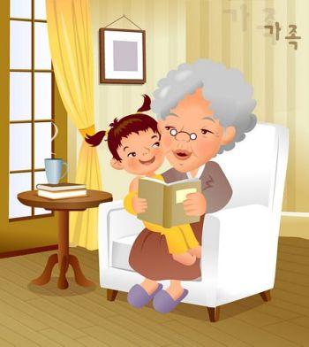 صور جدة مرسومة , صور ثيمات عن يوم الجدة , ثيم جاهز عن الجدات