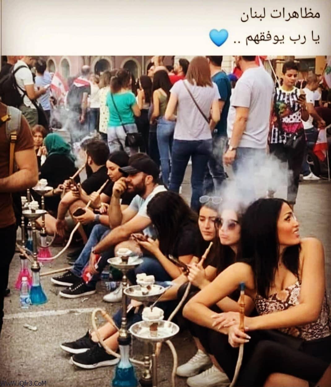 صور بنات لبنان من المظاهرة , ثورة بنات لبنان بالصور hd