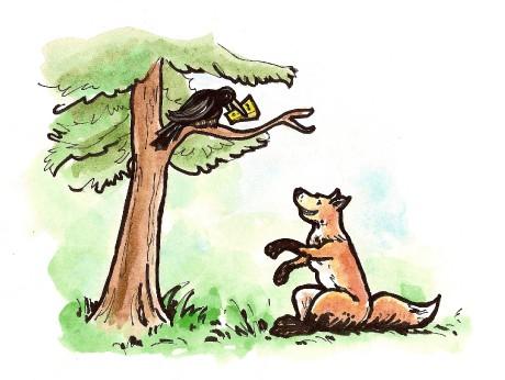حكاية الثعلب والغراب من اروع قصص الاطفال , اروع قصص الاطفال المسلية