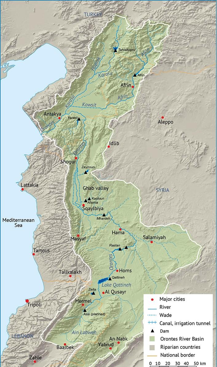 اين يقع نهر العاصي ومساره وصور للنواعير الخشبية أهمية نهر العاصي