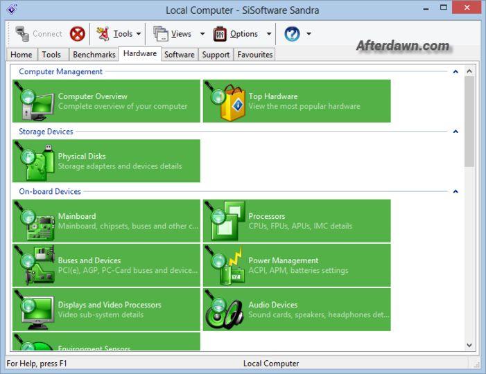 SiSoftware Sandra Lite 2013 SP2 19.35 لعمل تقرير عن مواصفات الجهاز