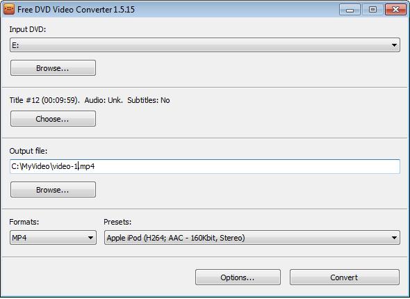 Free DVD Video Converter 2.0.13