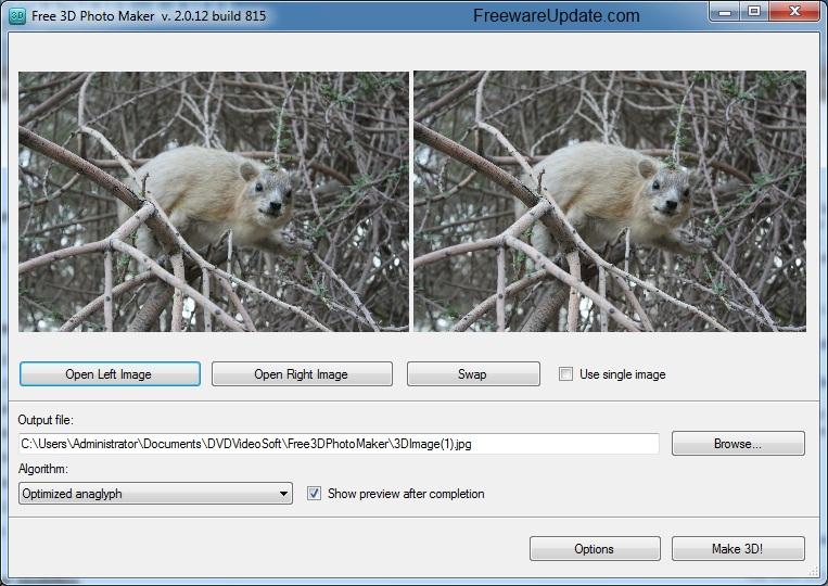 ������ Free 3D Photo Maker 2.0.22 ������ ����� ������ ������� ���� ����