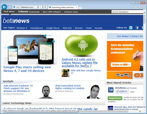 Internet Explorer 10.0.9200.165210 � Final