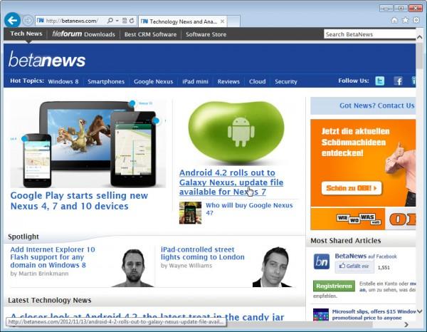 Download Internet Explorer 10 Pre-release for Windows Server 2008 R2