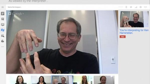 شركة جوجل تدعم لغة الإشارة في خدمة Hangouts