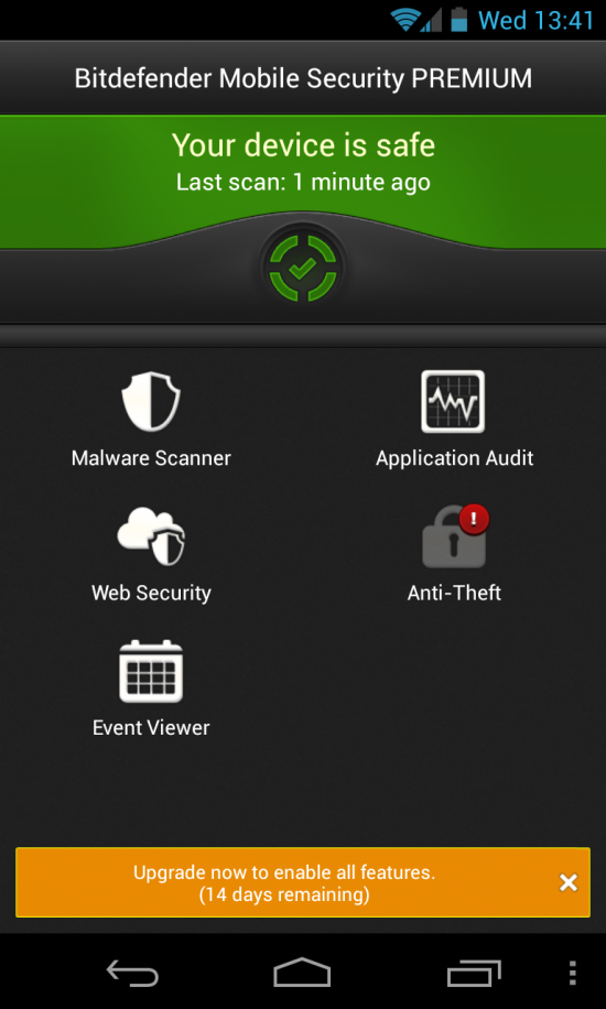 Bitdefender Mobile Security 1.2.245 عملاق الحماية من الفيروسات