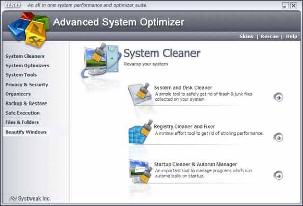 Advanced System Optimizer 3.5.1000.15013 عملاق صيانة وتسريع الجهاز