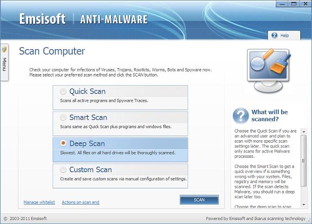 ����� ������ Emsisoft Anti-Malware 7.0.0.12 ������� ��������� ������� ������� ������
