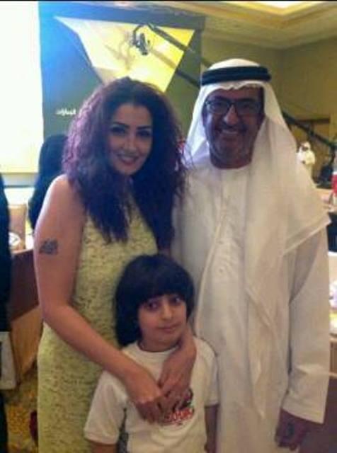 صورغادة عبد الرزق فى حفل إدارة أبو ظبي للإعلام لفريق عمل مسلسل حكاية حياة 2013