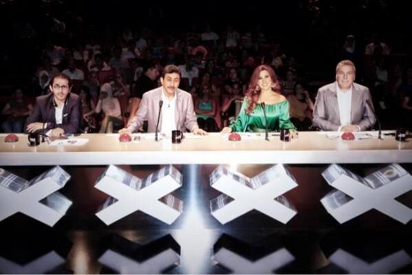 احدث صور نجوى كرم في أولى صور arabs got talent 2013