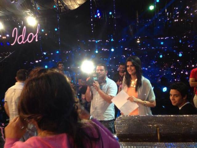 صور من تدريبات سلمى رشيد للغناء بالحلقة 26 من برنامج Arab Idol 2