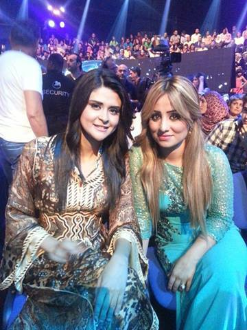 صور سلمى رشيد وبرواس بين الجمهور بالحلقة 25 من برنامج Arab Idol 2
