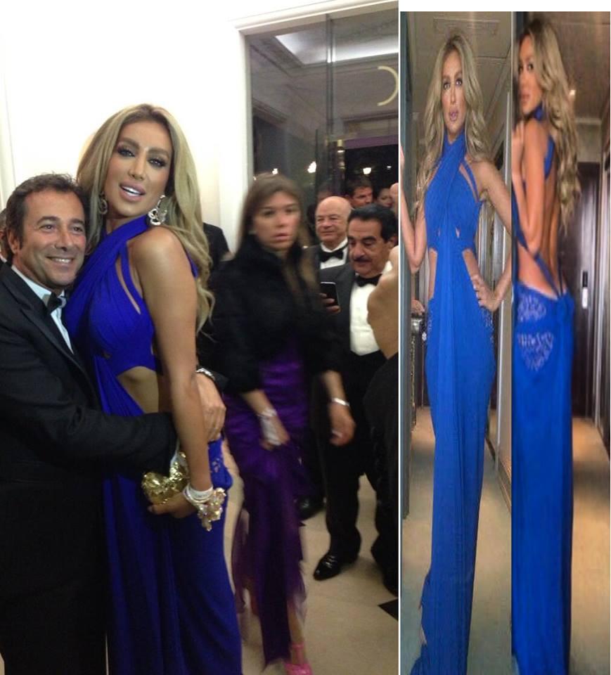 احدث واجمل صور مثيرة مايا دياب بفستان ازرق مثير فى حفل كان 2013