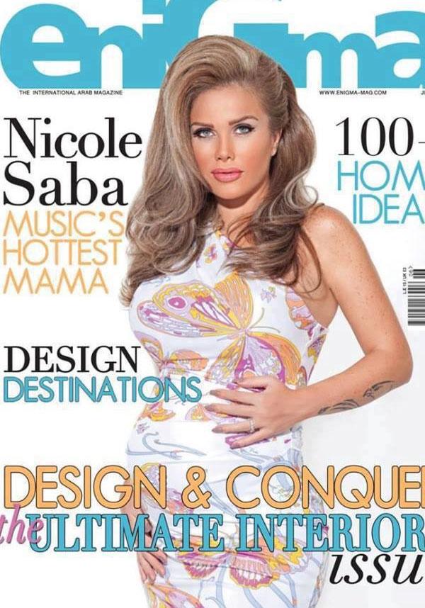 احدث واجدد صور نيكول سابا على غلاف مجلة بفستان صيفي مثير تظهر حملها 2013