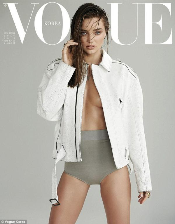 بالصور عارضة الازياء الأسترالية ميراندا كير غلاف مجلة Vogue بنسختها الكورية 2013