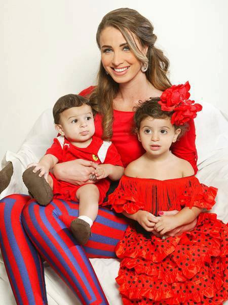 صور مقدمة عرب ايدل أنابيلا هلال مع اولادها وزوجها 2013