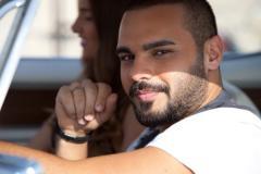شاهد بالصور تعرض الفنان اللبناني جوزيف عطية لحادث سير 2013