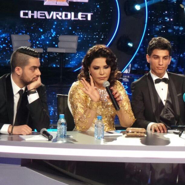 صور محمد عساف نجم ارب ايدول 2 فى موتمر مع اللجنة الحكم Arab Idol 2