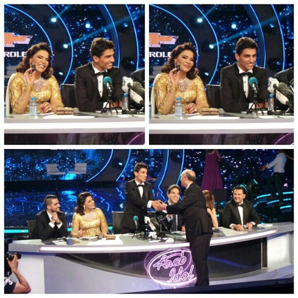 بالصور لحظة تسليم محمد عساف مفتاح السيارة بعد فوزه بلفبArab Idol 2