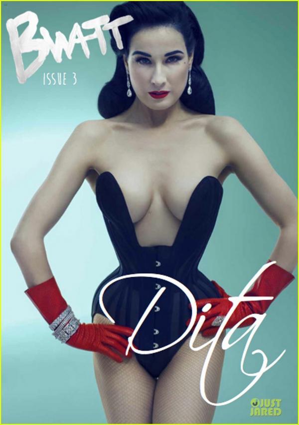 صور النجمة ديتا فون تيز غلاف مجلة Bwatt في عددها الثالث 2013