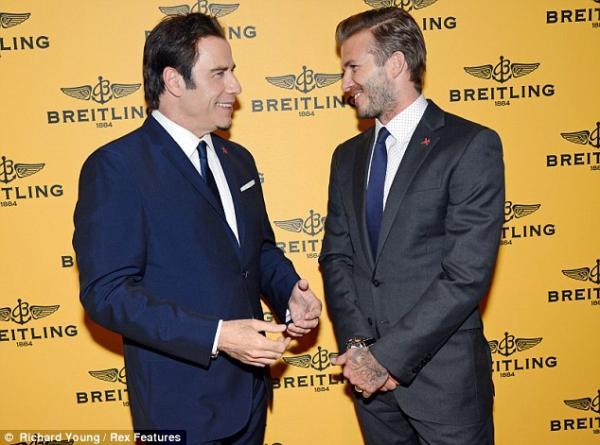 احدث صور لاعب كرة القدم المعتزل ديفيد بيكهام فى حفل إطلاق متجر Breitling