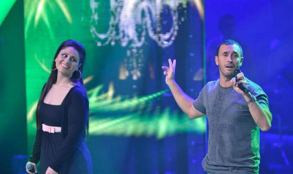 بالصور النجم كاظم الساهر و نور عرقسوسي معاً على مسرح بيت الدين 2013