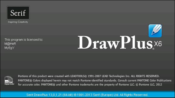������ ������ ����� � ������� ����� � ����� ���� ������ Serif DrawPlus X6 13.0.1.21