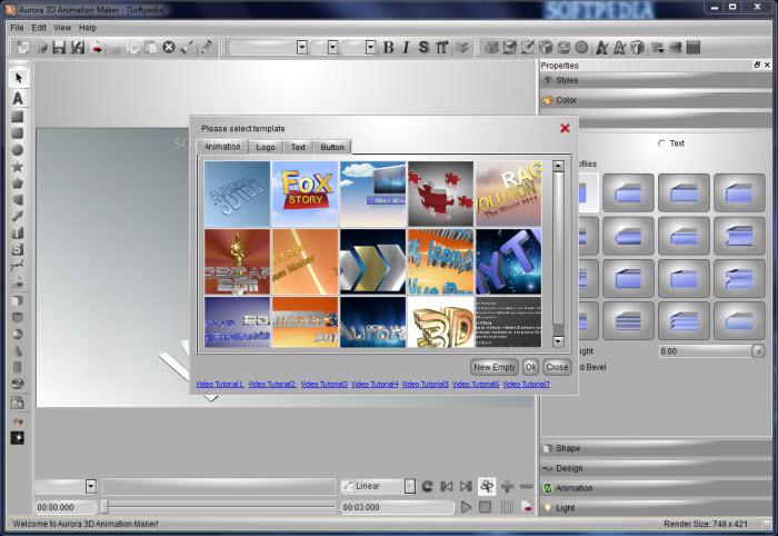 تحميل برنامج Aurora 3D Animation Maker 13.01.04 عملاق تصميم الشعارات والنصوص والمتحركة