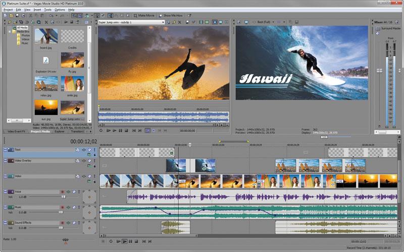 Download Sony Vegas Movie Studio HD 12.1