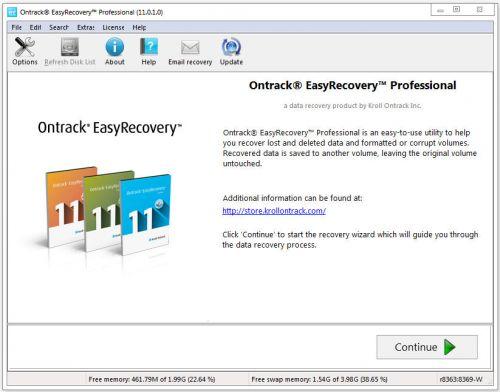 تحميل برنامج استعادة الملفات والفيديوهات والصور بعد فرمطة الجهاز Ontrack EasyRecovery 11.0.1