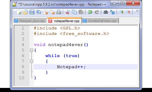 تحميل برنامج تحرير النصوص Notepad++ 6.5 نسخة عادية و نسخة محمولة Download Notepad++ 6.5