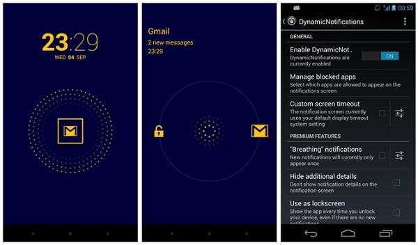 تحميل تطبيق تنبيهات الشاشة Dynamic Notifications كما في Moto X تطبيقات اندرويد 2014