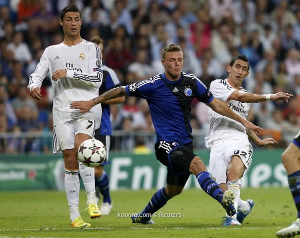 نتيجة مباراة ريال مدريد و أف سي كوبنهاجن في دوري ابطال اوروبا اليوم الاربعاء 2-10-2013