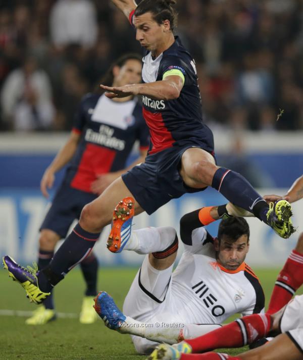نتيجة مباراة باريس سان جيرمان و بنفيكا في دوري ابطال اوروبا اليوم لاربعاء 2-10-2013