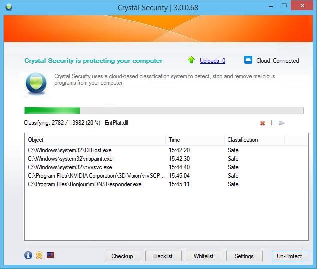 برنامج Crystal Security 3.0.0.68 برنامج لحذف وازالة البرمجيات الخبيثة 2014