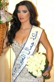 ملكة جمال العيون 2013- صور رنا خطارملكة جمال العيون 2013
