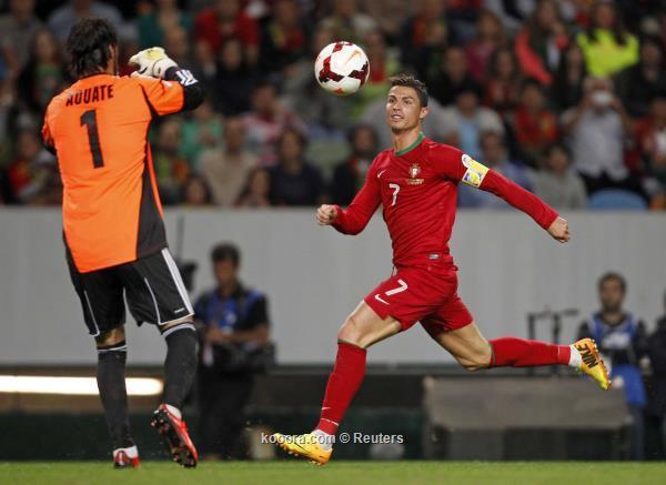 البرتغال تتعثر في تصفيات المونديال امام منتخب الكيان الصهيوني 11-10-2013 في تصفيات كاس العالم 2014