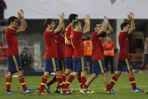 فوز اسبانيا على روسيا البيضاء 2-1 اليوم الجمعة 11-10-2013