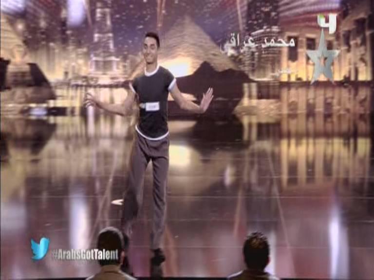 يوتيوب اداء محمد عراقي , رقص شرقي - مصر - أرب قوت تالنت - Arabs Got Talent السبت 12-10-2013